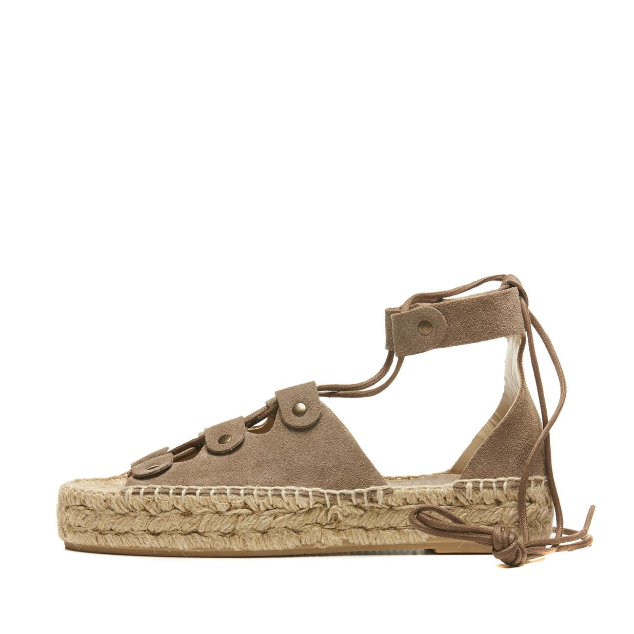 96aa6c256fe Lyst - Soludos Ghillie Lace-up Suede Platform Sandal