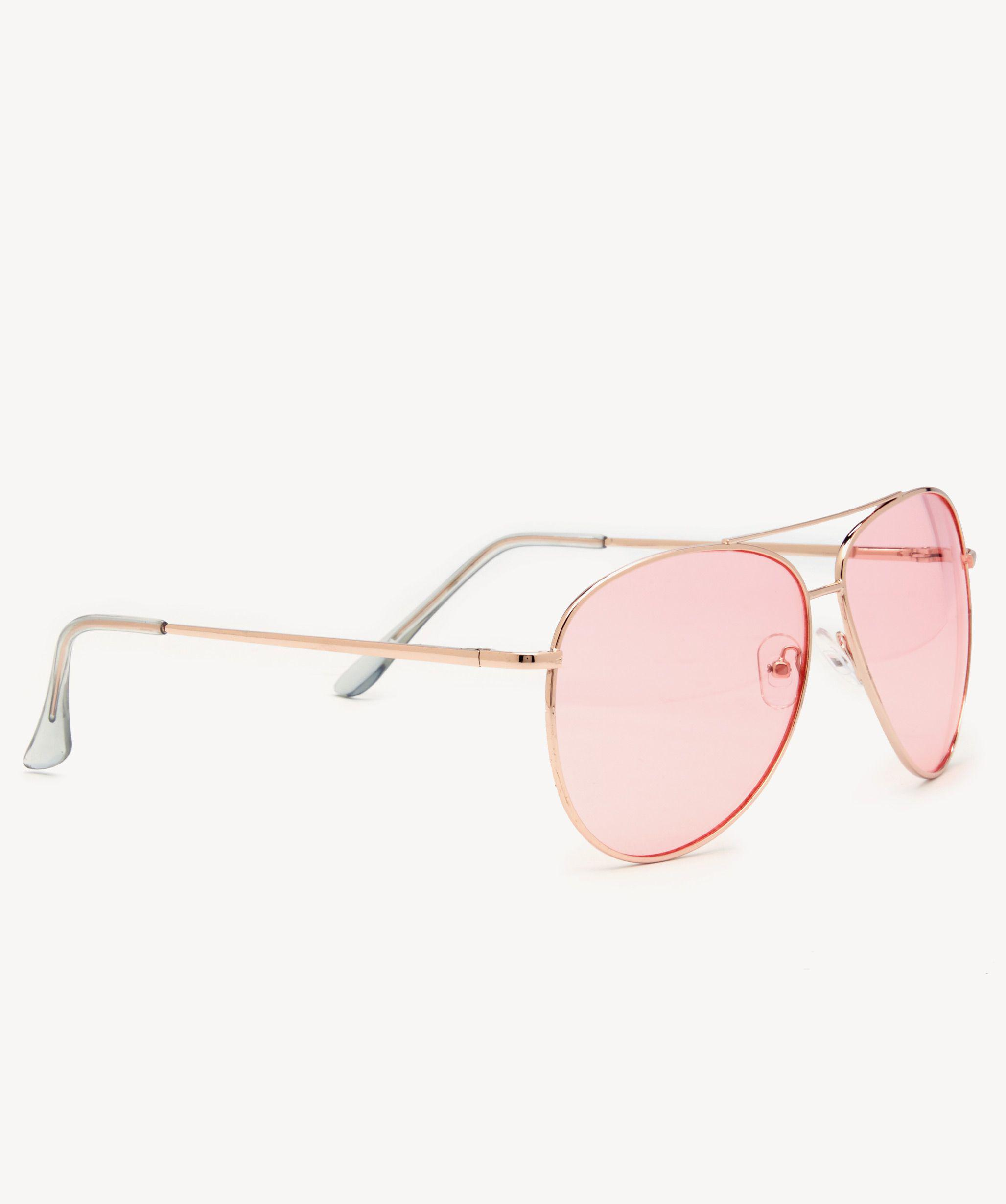 4e50755f9a6 Lyst - Sole Society Patrina Clear Frame Aviator Sunglasses in Pink