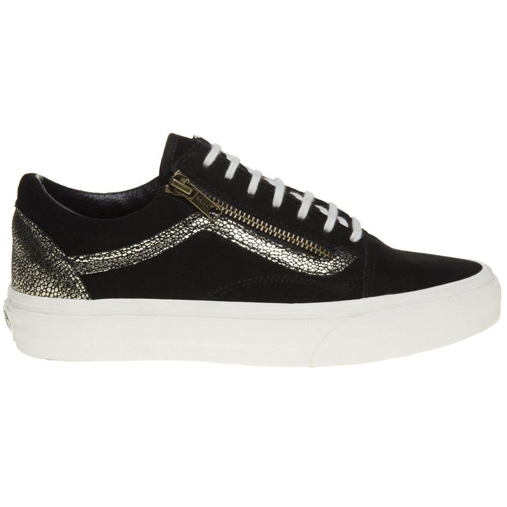 9501fecc23b Vans Old Skool Zip Trainers in Black - Lyst