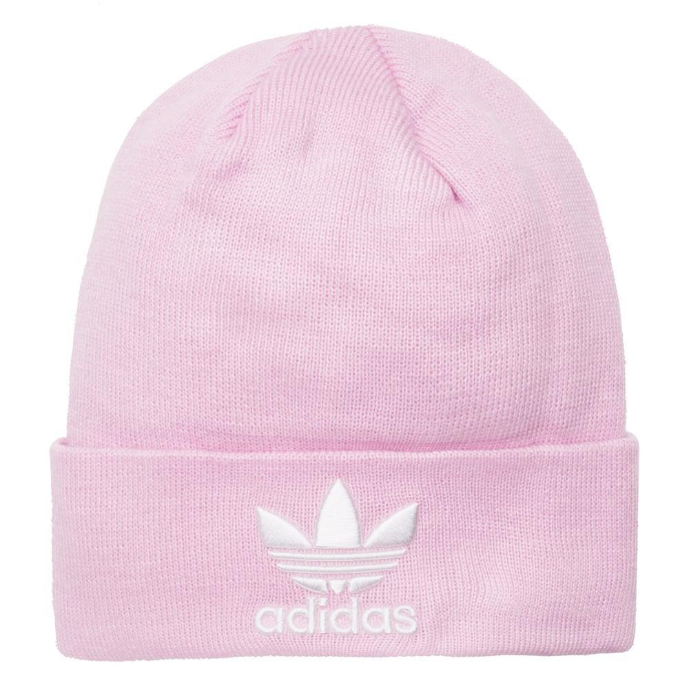 official photos cd3c6 63e7c Adidas - Pink Trefoil Beanie - Lyst. View fullscreen