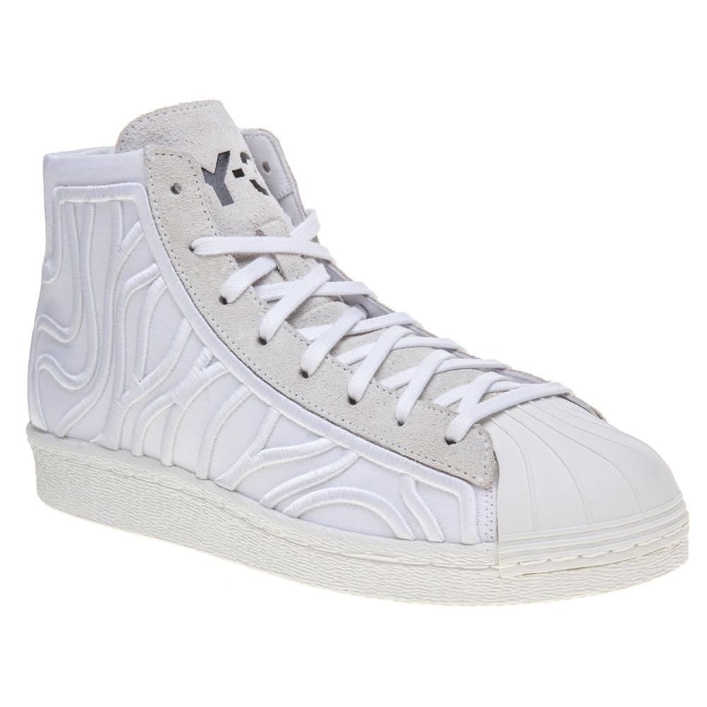 3487dc1d750e5 Y-3 Shishu Super Trainers in White - Lyst