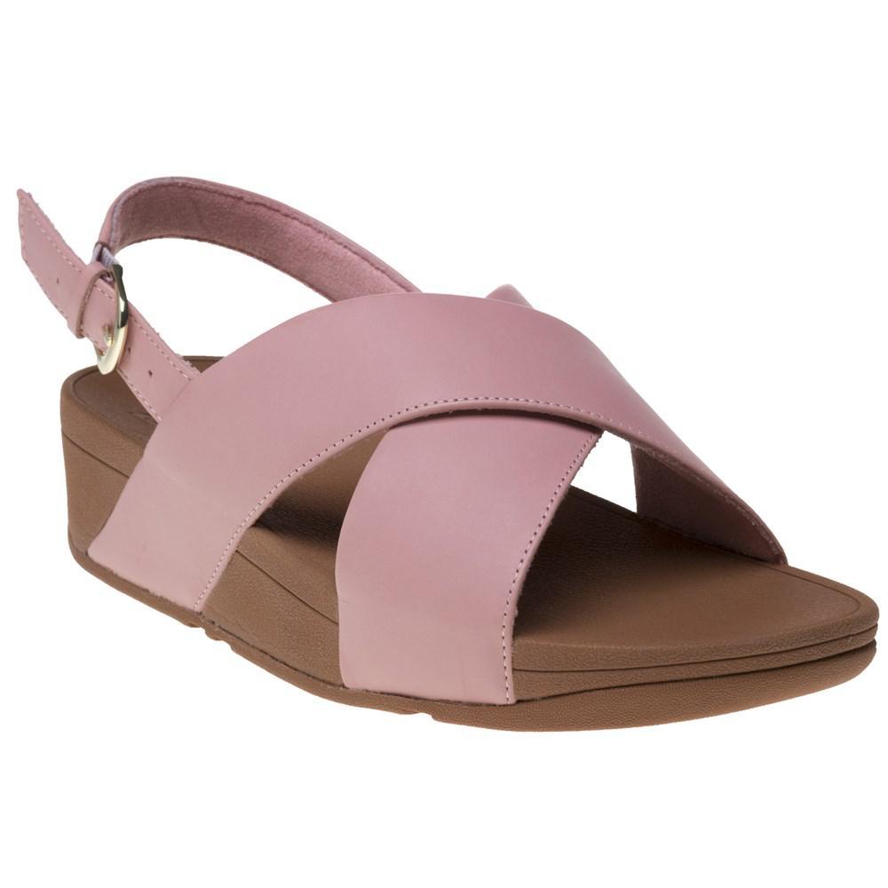 0cb1fda92588d Fitflop Lulutm Cross Back Strap Sandals in Pink - Lyst