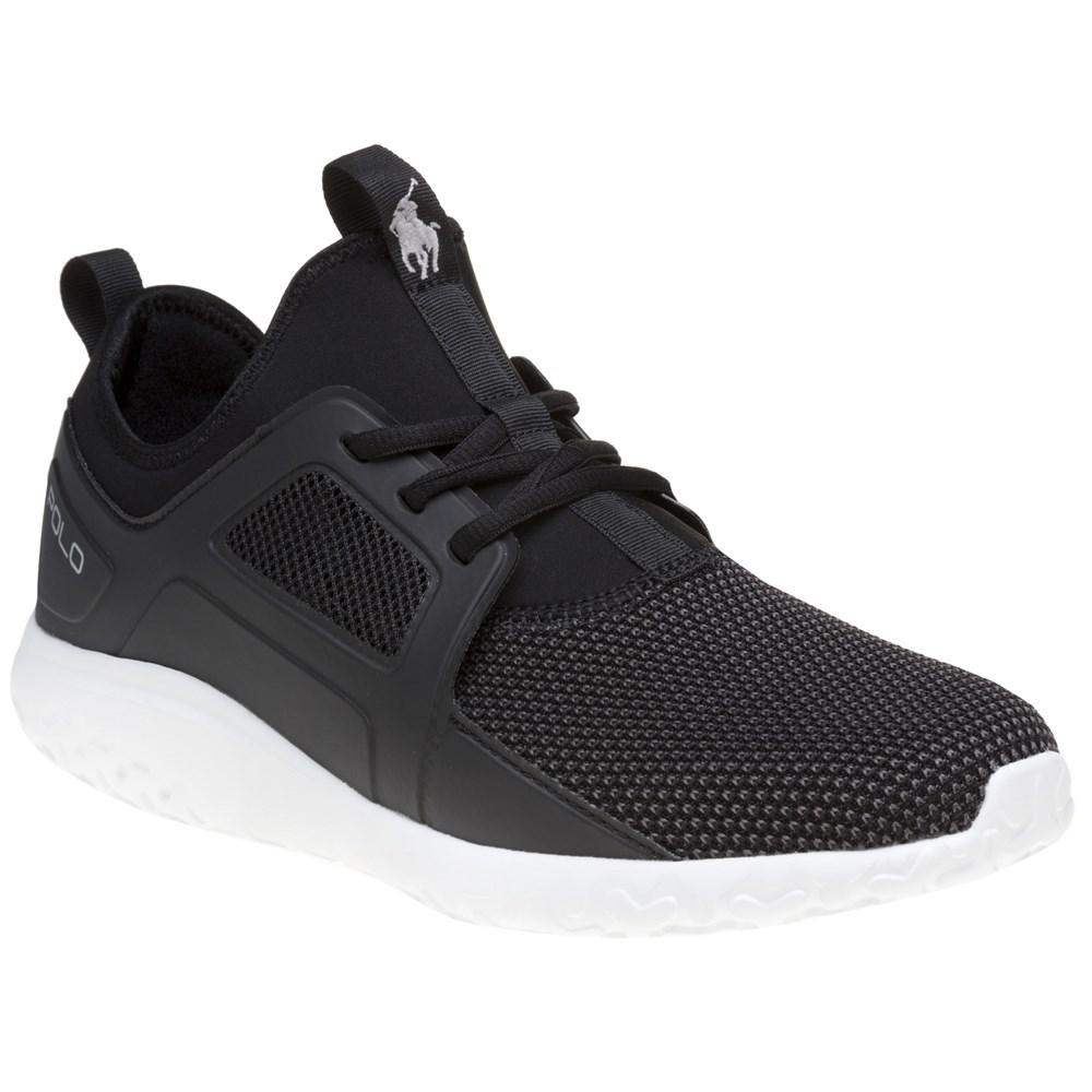 Performance Train 150 Trainers Mesh Neoprene Mix in Black - Black Polo Ralph Lauren