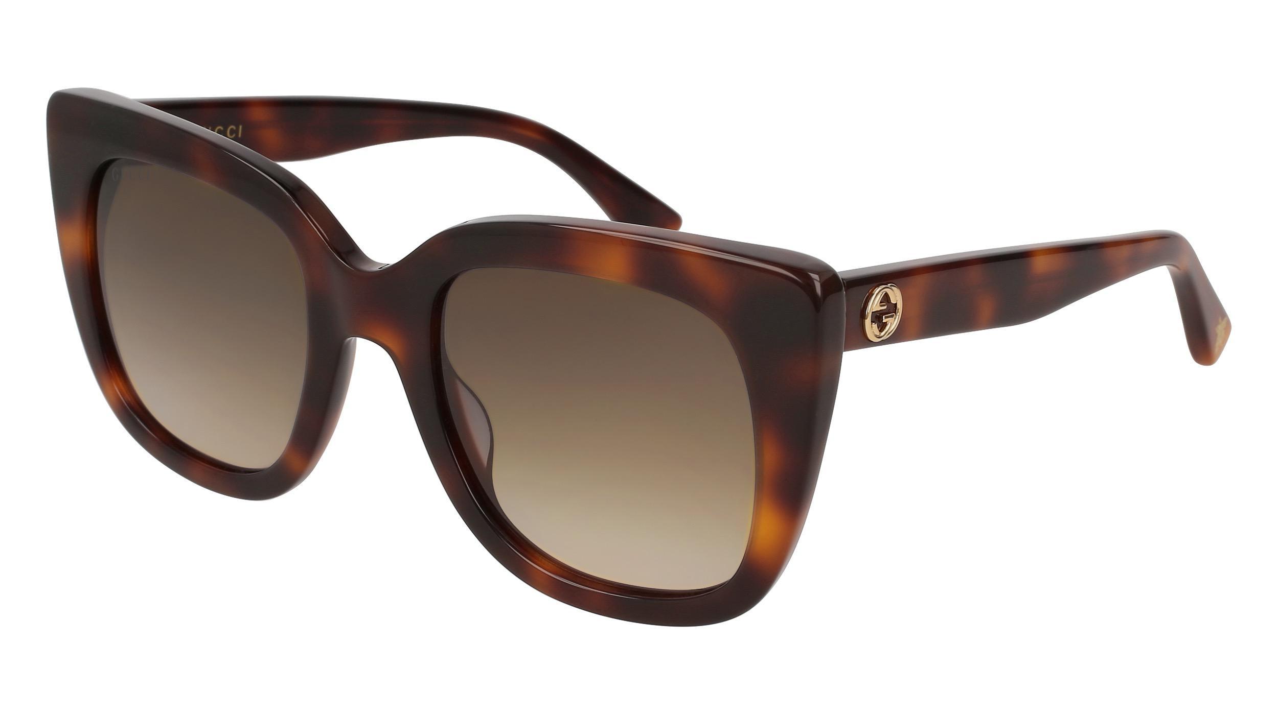 b8c567ecc3 Lyst - Gucci 0163 s Cat Eye Sunglasses in Brown