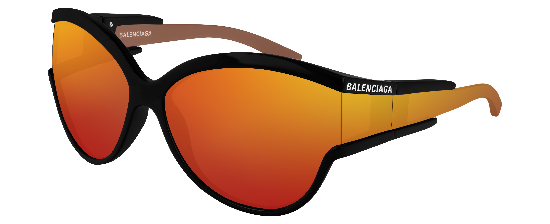 4c2e91e1d8570 Lyst - Balenciaga Bb0038 Women s Cat Eye Sunglasses in Orange