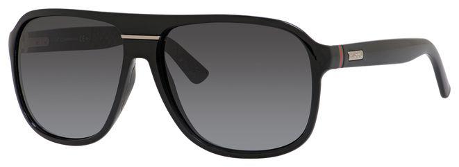 4414e1b82463f Lyst - Gucci 1076 Aviator Sunglasses in Black for Men