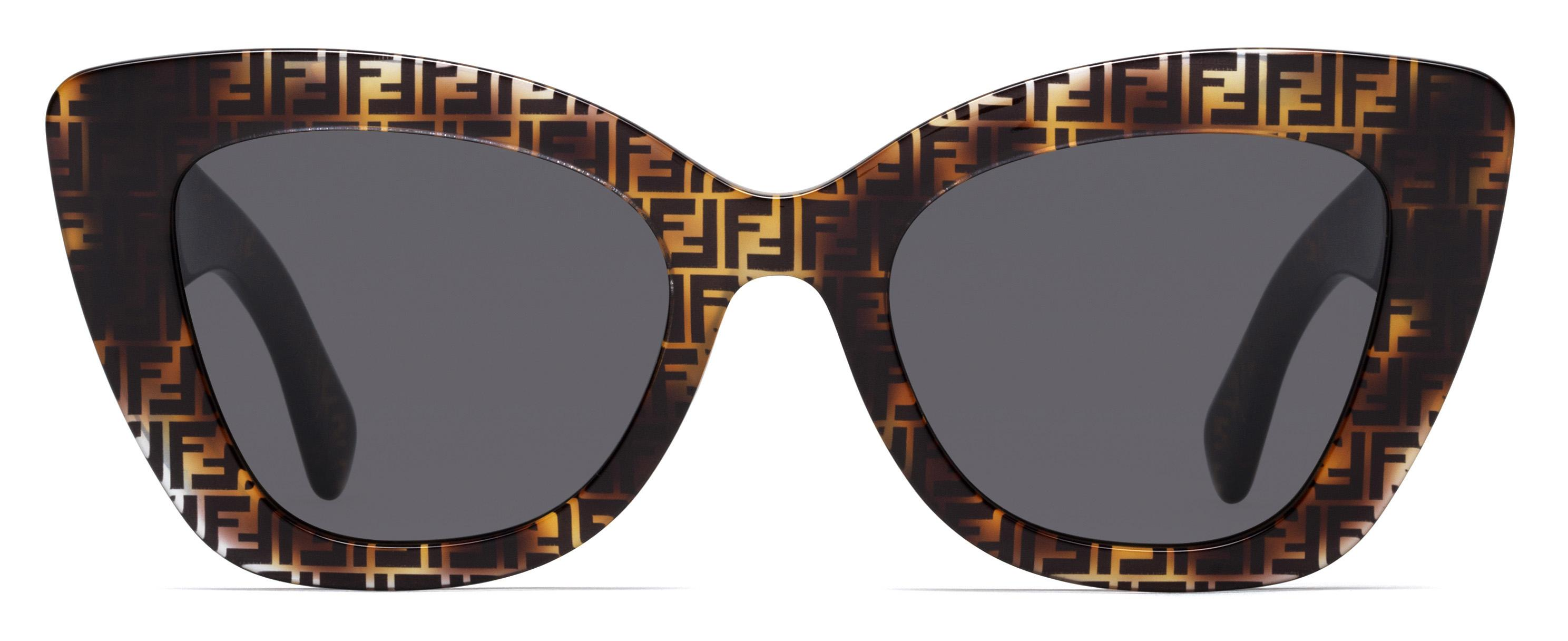 18072fdc32c Lyst - Fendi 0327 Cat Eye Sunglasses in Brown