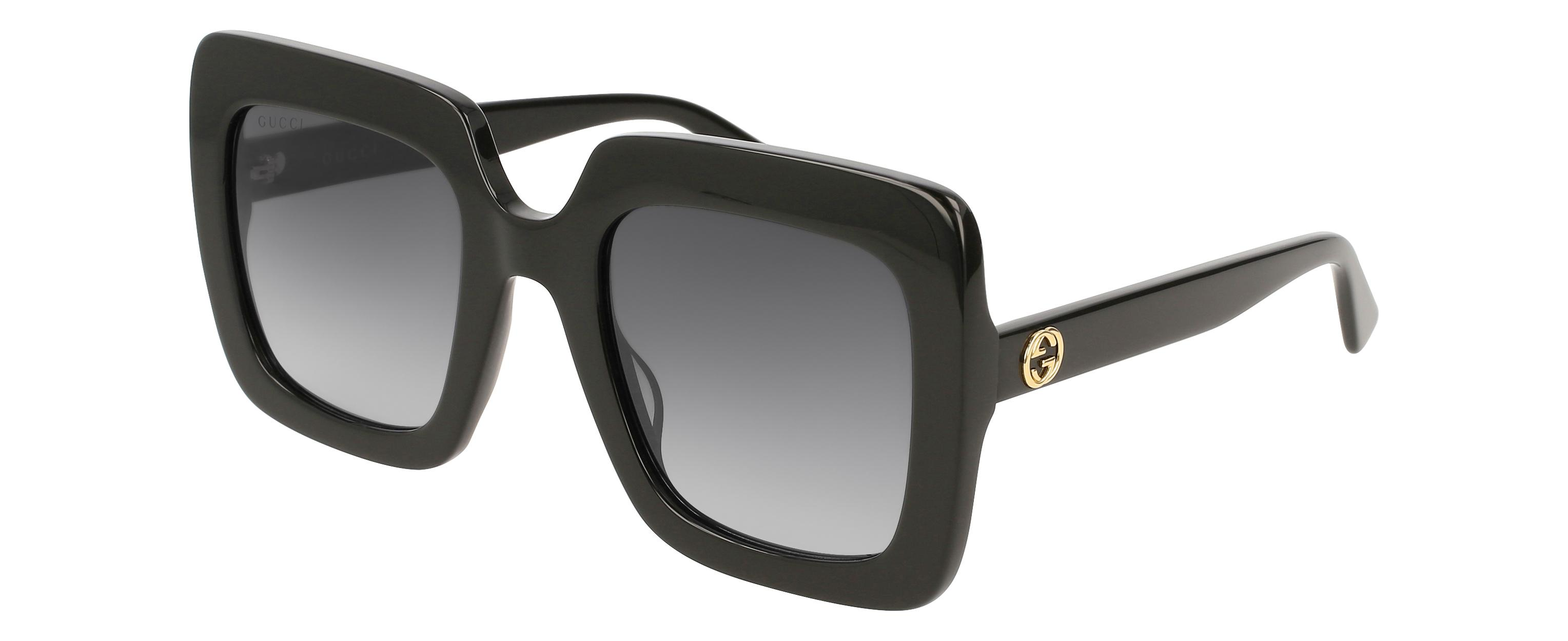 a5529bec11f Lyst - Gucci GG0328 Rectangle Sunglasses in Black