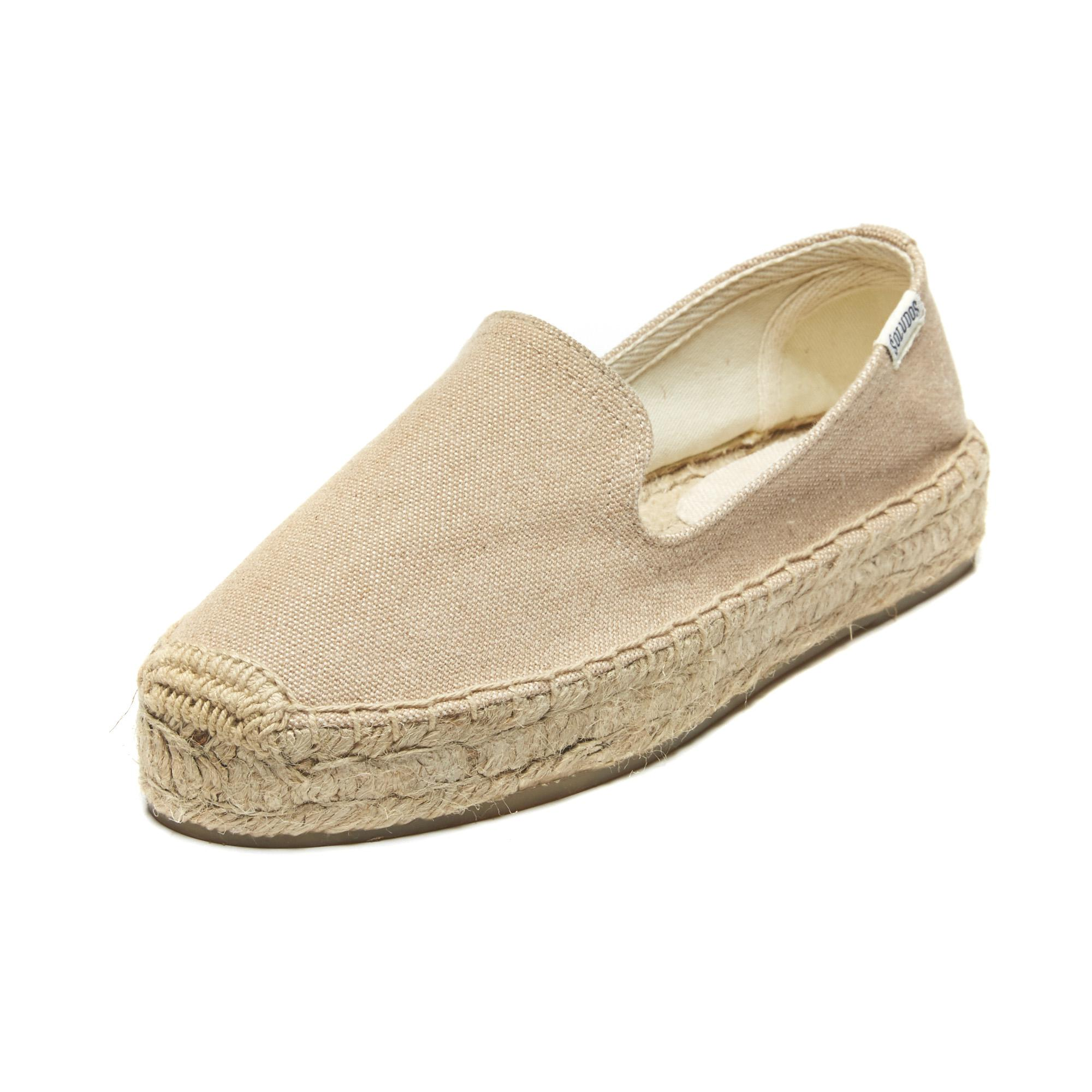 c5f41f5d3c7 Soludos Canvas Platform Smoking Slipper in Natural - Lyst