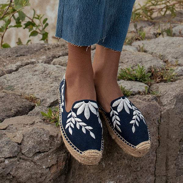 Yucatan Embroidered Platform Smoking Slipper Soludos fLtg0
