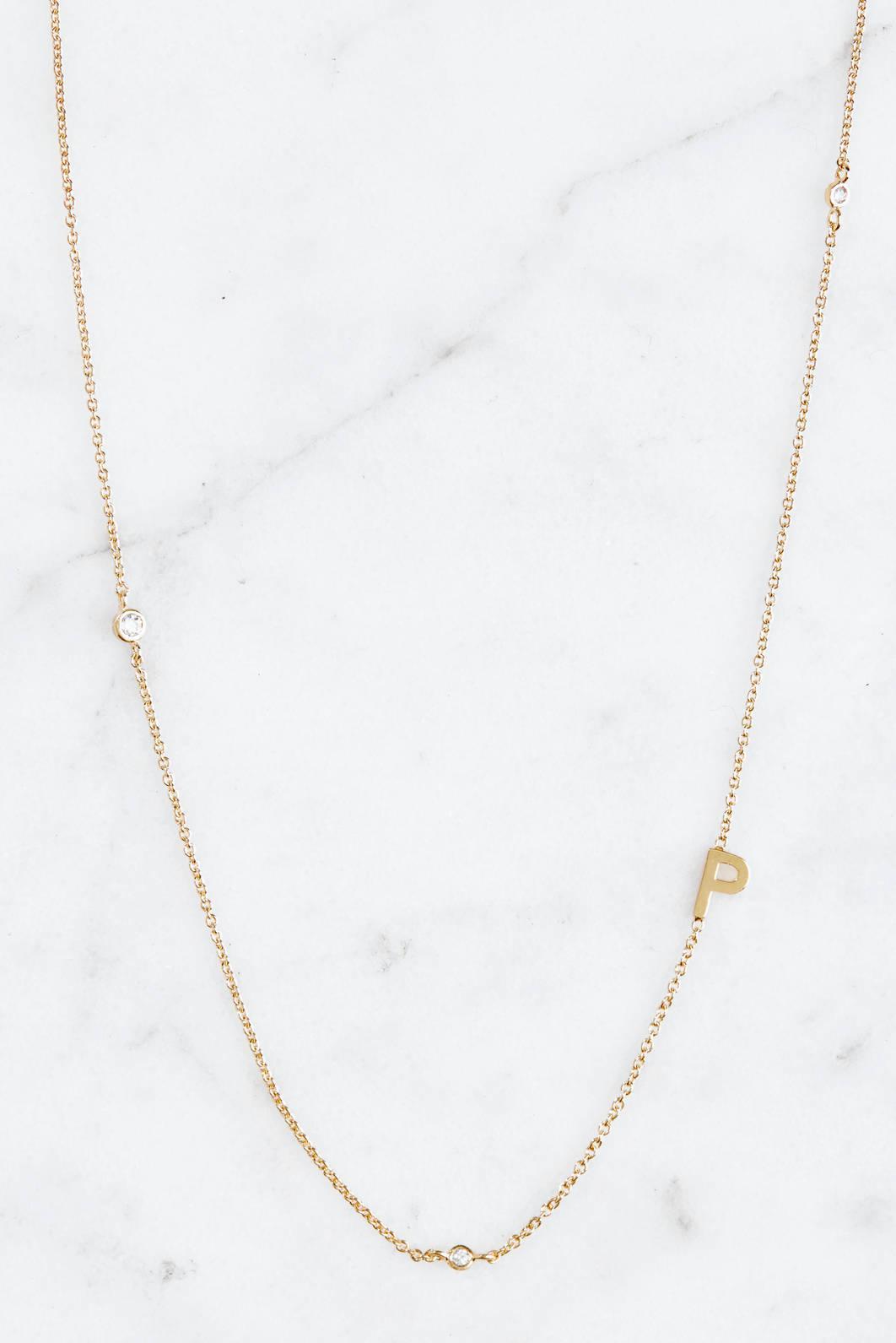Tai Jewelry Gold Alphabet Necklace N Gold Qo7XWuVF6