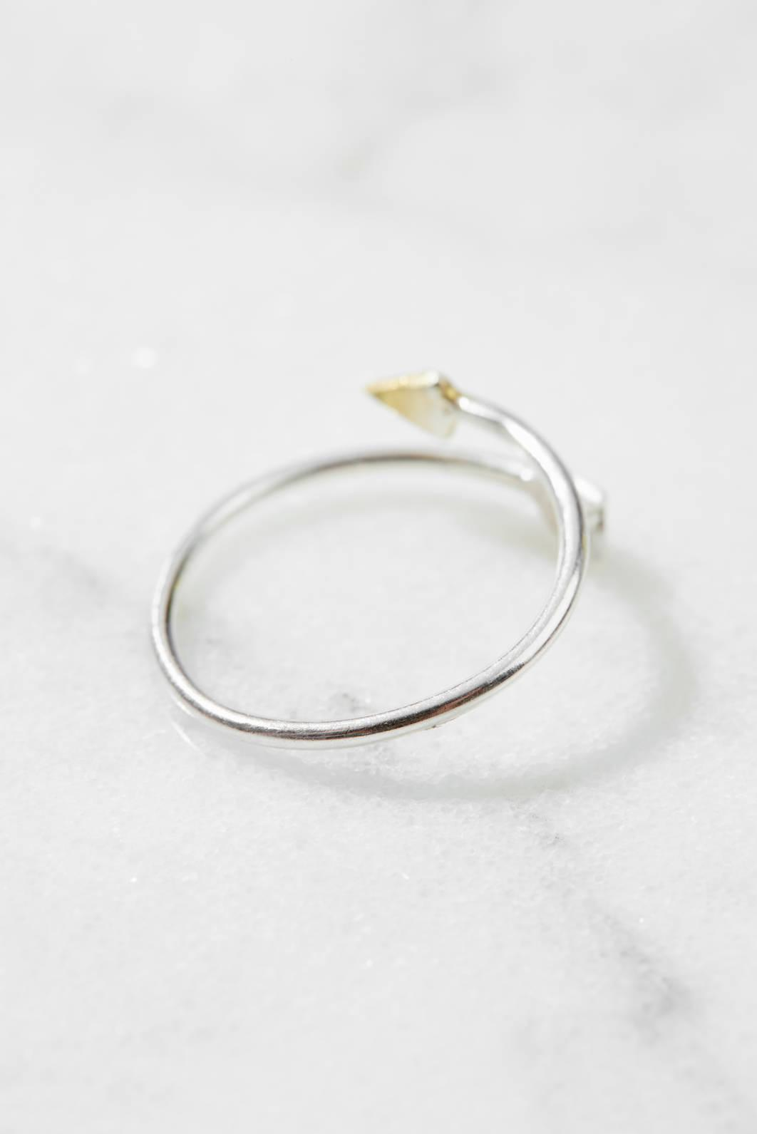 South Moon Under Open Arrow Ring Gold 1 Size RpepINyIiA