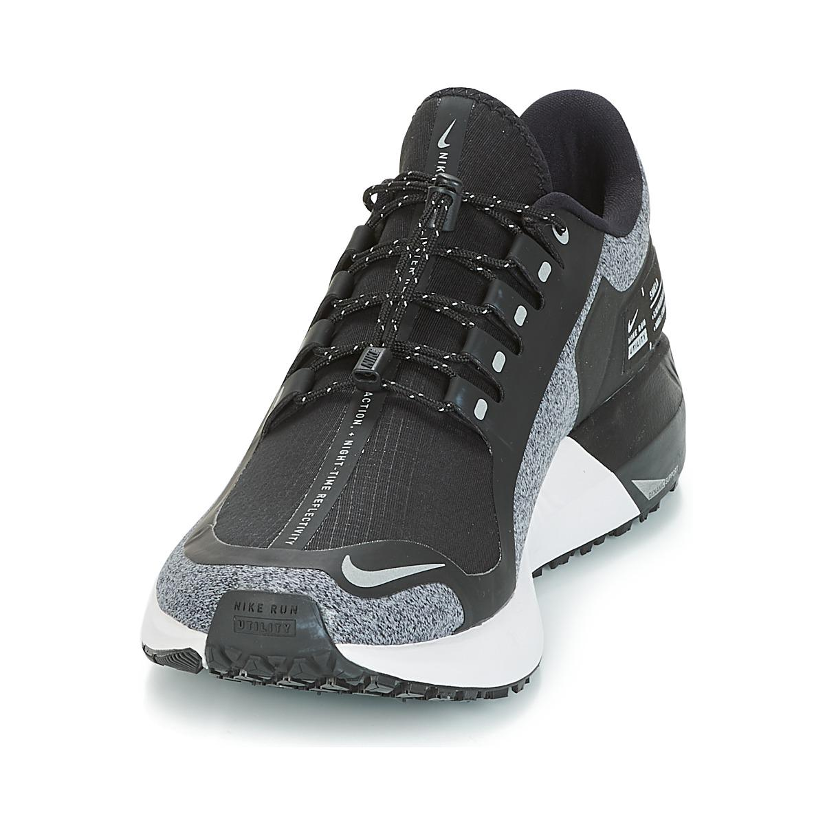 af96548070bf6 Nike Air Zoom Structure 22 Shield Running Trainers in Black for Men ...