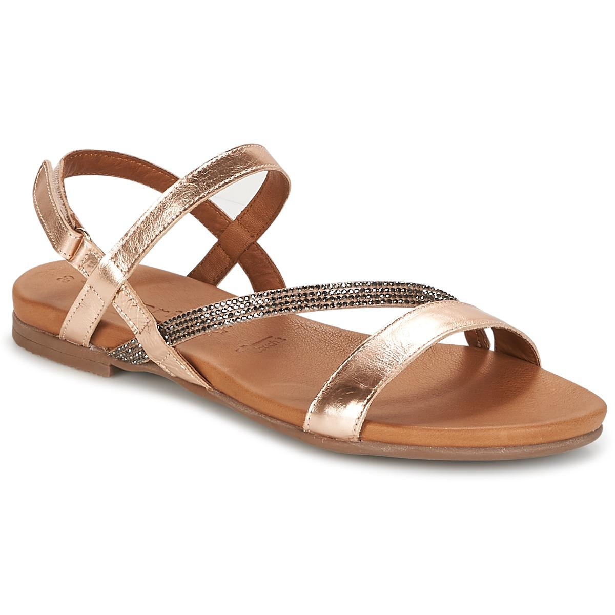 New Tamaris Gacapa Pink / Gold Sandals for Women Online Sale
