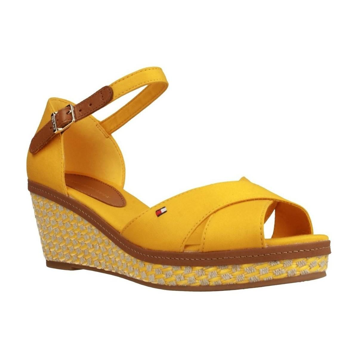 bbed7546db267a Tommy Hilfiger Fw0fw02648 Women s Sandals In Yellow in Yellow - Lyst