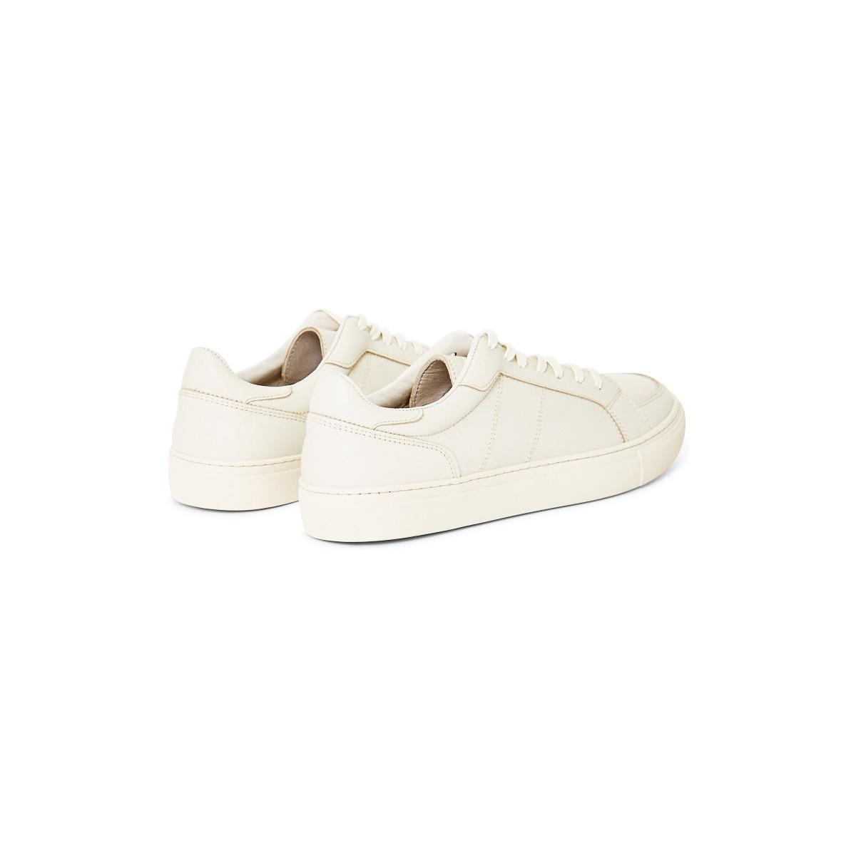 95abe58bdde3 Garment Project Off Court Leather Trainers Off White Men s Shoes ...