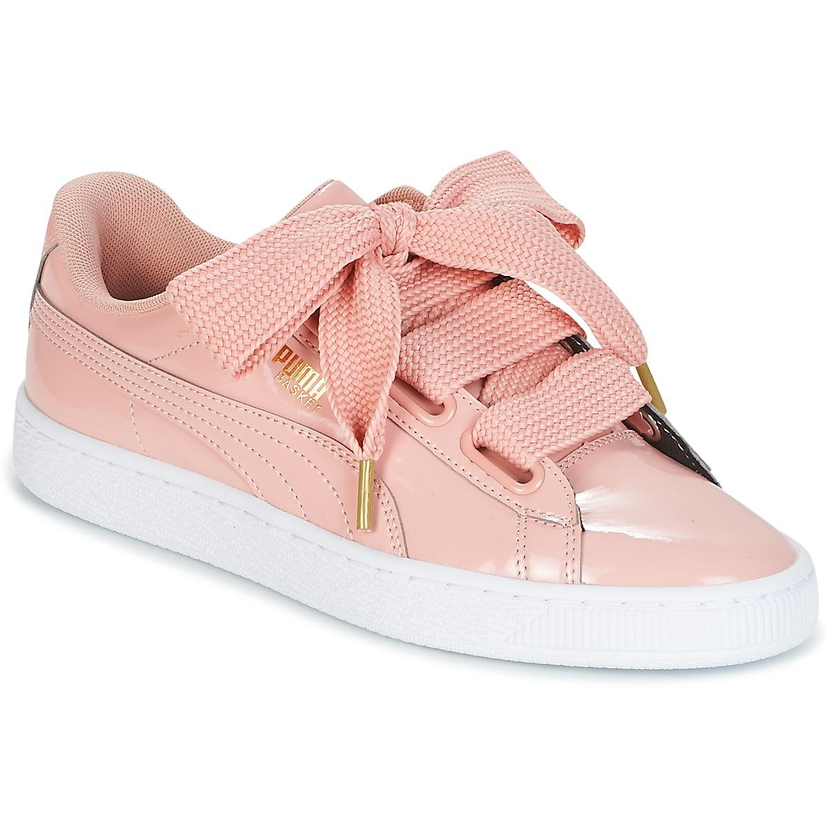 c8092b5960c PUMA Basket Heart Patent W s Women s Shoes (trainers) In Pink in ...