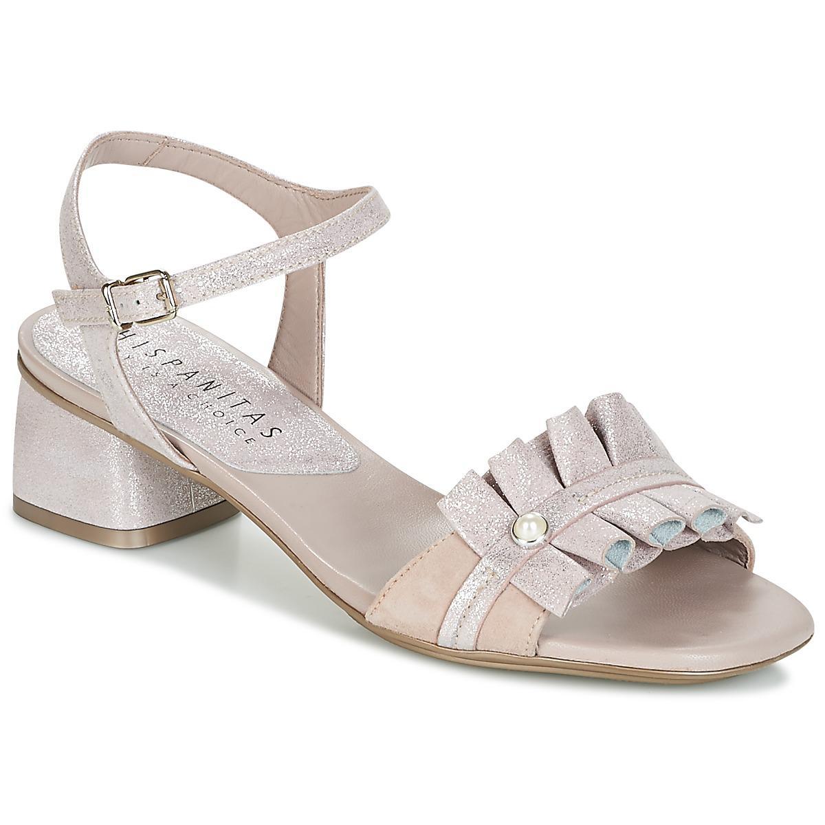 Latest Hispanitas Samoa-4 Silver Sandals for Women Sale Online
