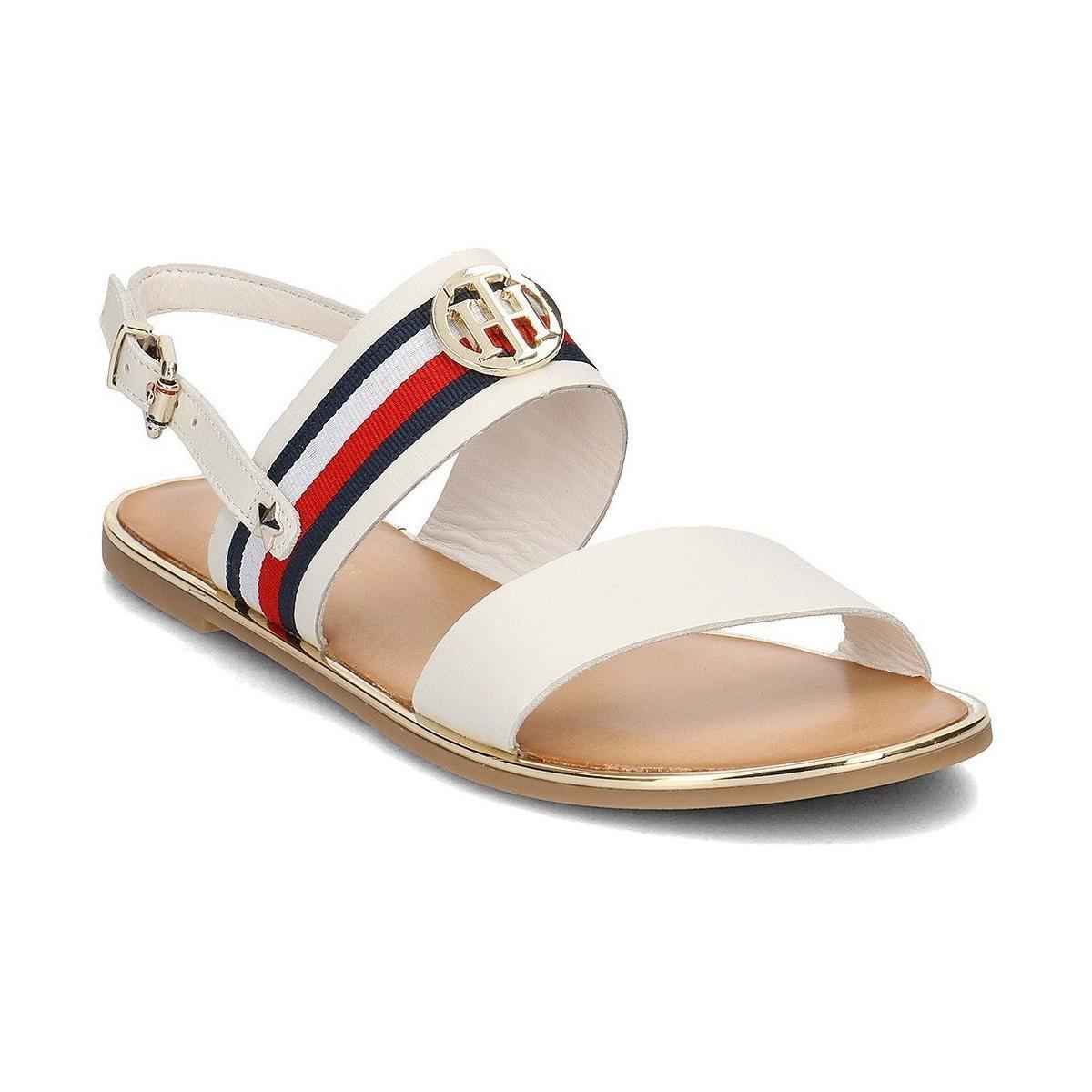 dc94c847f23a32 Tommy Hilfiger Corporate Ribbon Flat Sandal Whisper Women s Sandals ...