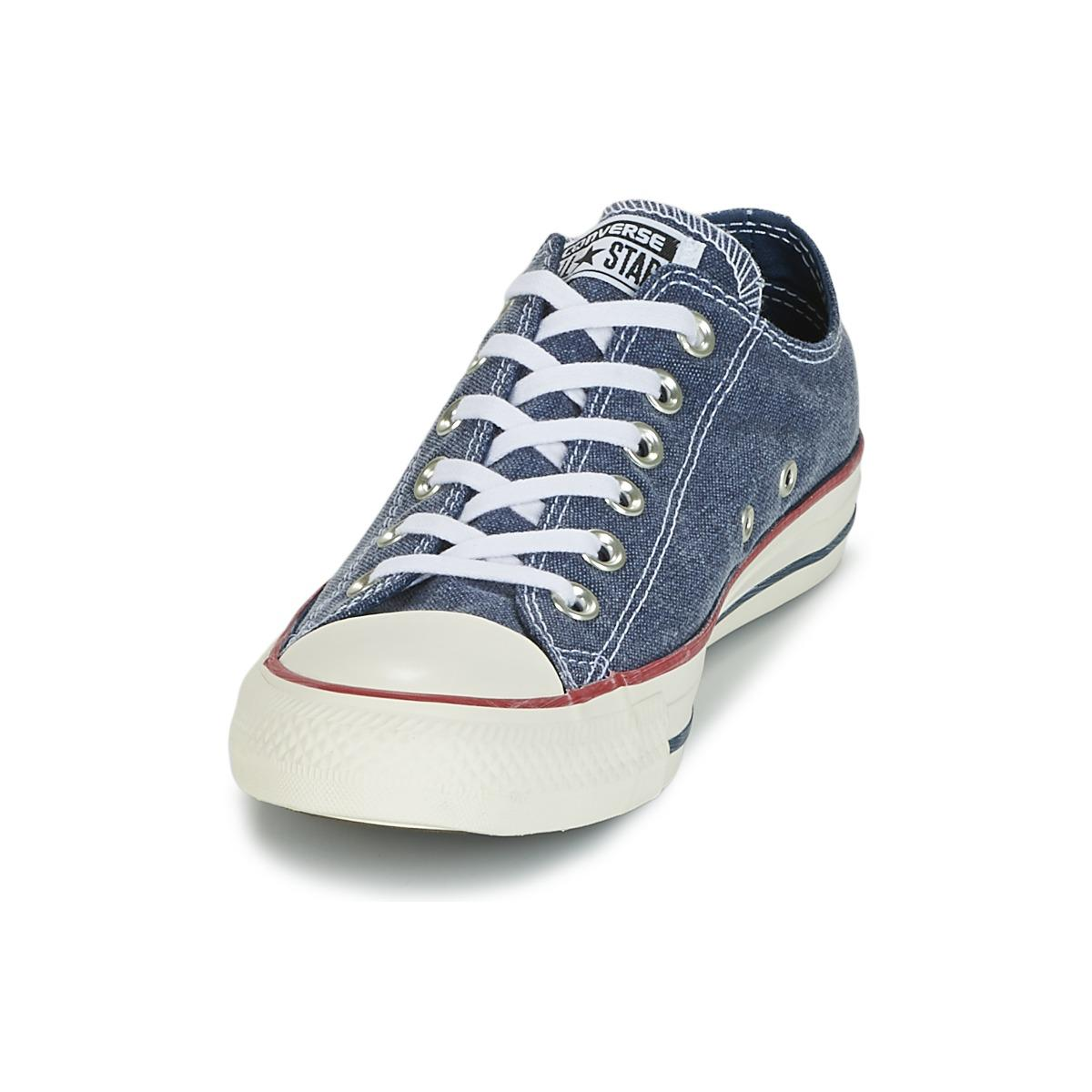 34d3fd8c0df4 Converse - Chuck Taylor All Star Ox Stone Wash Men s Shoes (trainers) In  Blue. View fullscreen