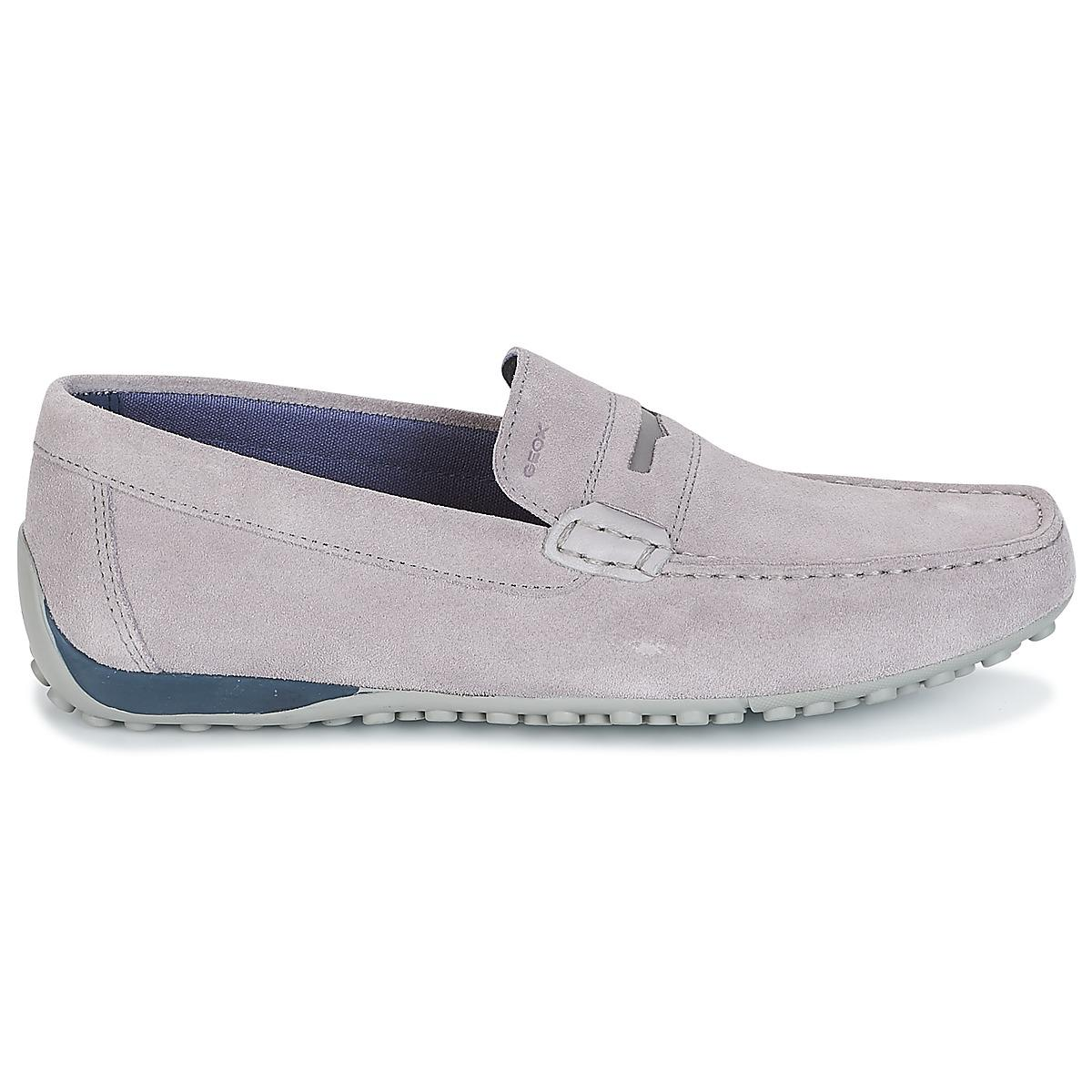 Geox - Gray Snake Moc A Men s Loafers   Casual Shoes In Grey for Men -.  View fullscreen 57fe09140bb2