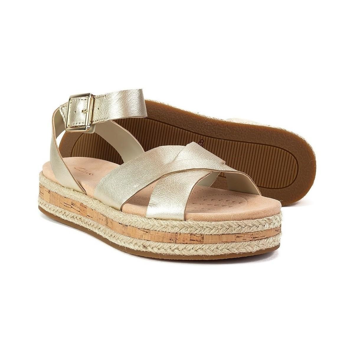 376a4c890317 Clarks - Metallic Botanic Poppy Women s Sandals In Gold - Lyst. View  fullscreen