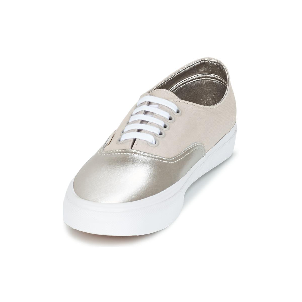 b40e373ef4 Vans - Metallic Authentic Decon Women s Shoes (trainers) In Silver - Lyst.  View fullscreen