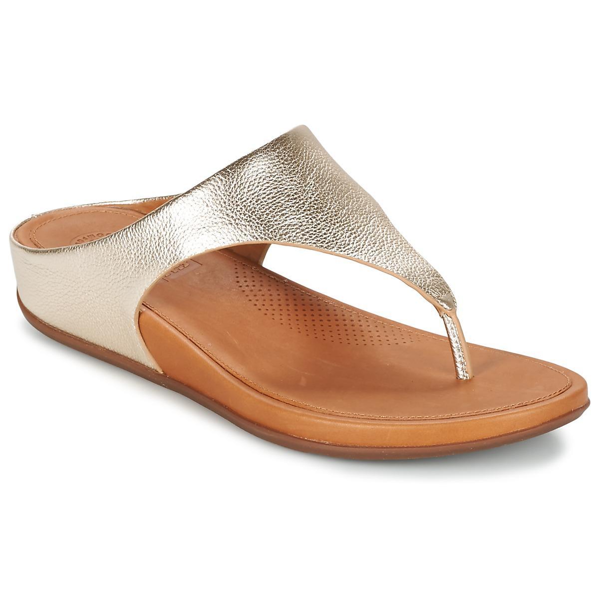 ab41e0b0e Fitflop Banda Women s Flip Flops   Sandals (shoes) In Gold in ...