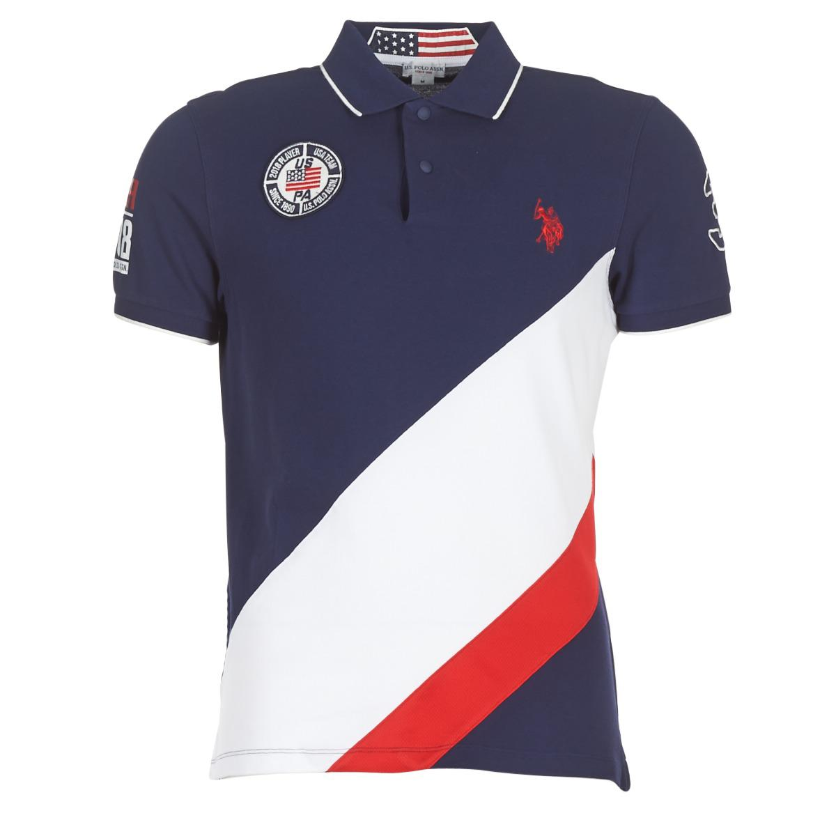 Us Polo Assn United States Polo Mens Polo Shirt In Blue In Blue