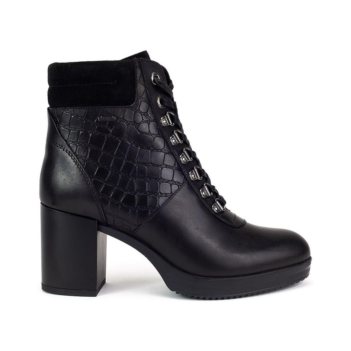 In Abx Black Remigia Ankle Lyst Geox Women's Boots Low ZYPnvx5q