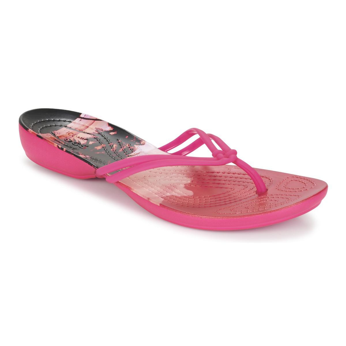 Crocs™. Women's Pink Isabella Graphic Flip W ...
