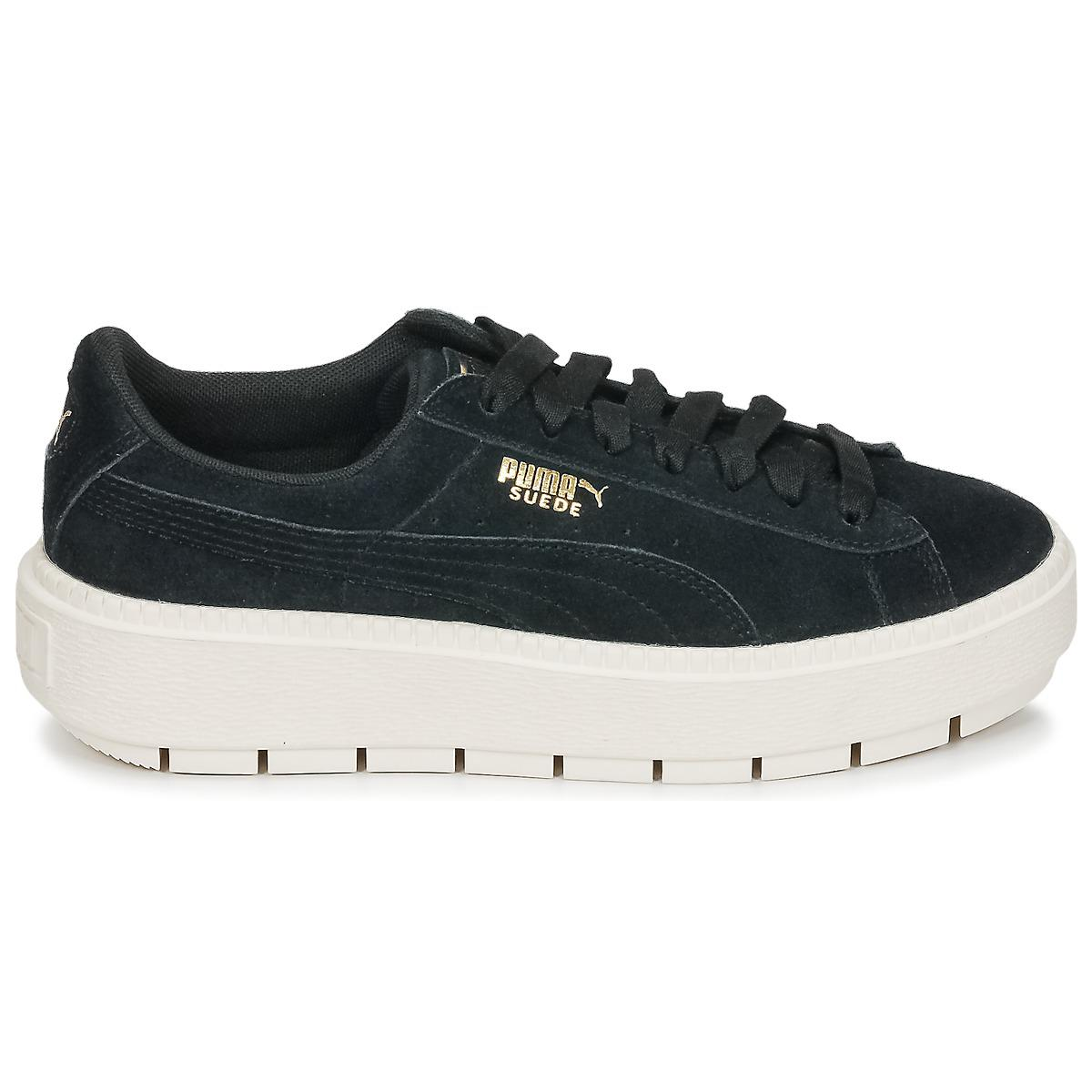 43d6f00b527d PUMA - Black Suede Platform Trace W s Shoes (trainers) - Lyst. View  fullscreen