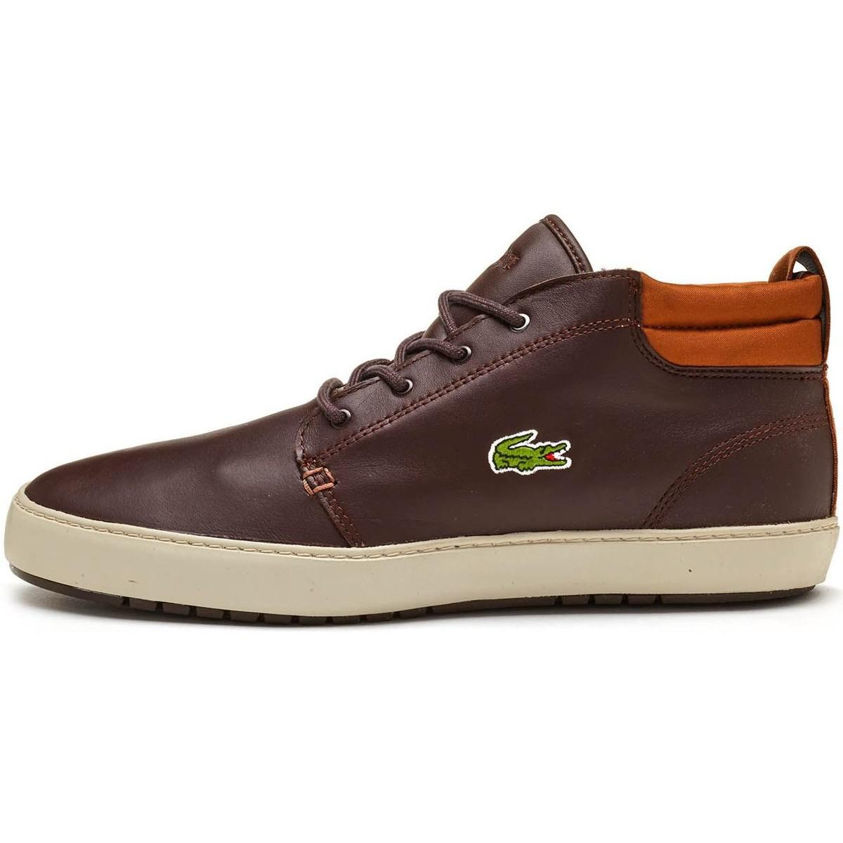 Lacoste. Ampthill Terra 317 1 Cam High Leather Trainers In Dark Brown 73 Men\u0027s  Shoes ...