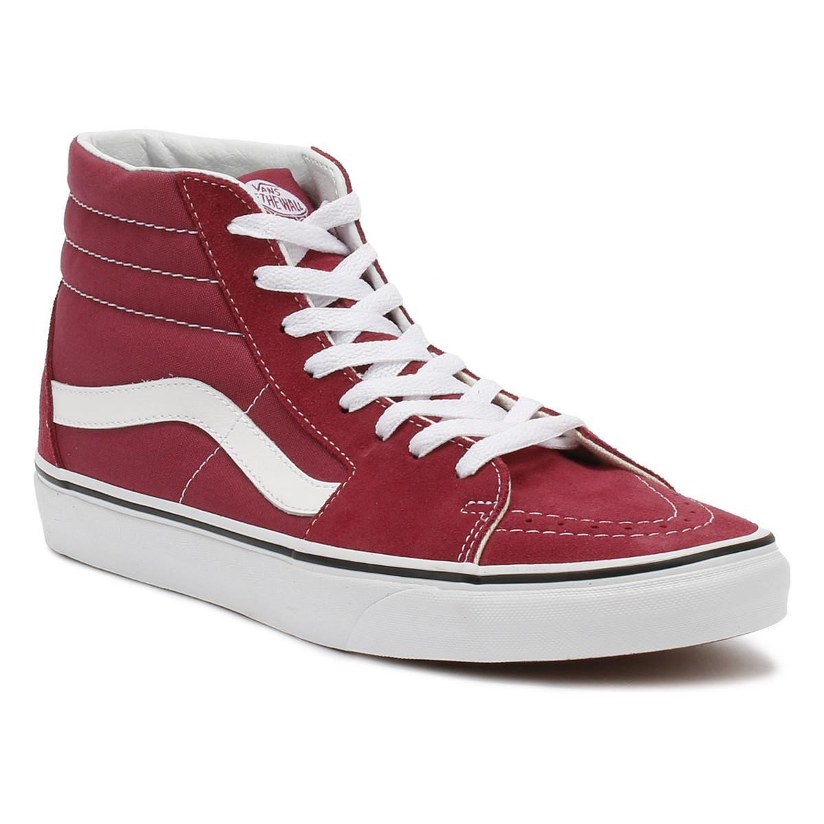 297583a005b Vans Dry Rose Red   True White Sk8-hi Trainers Women s Shoes (high ...