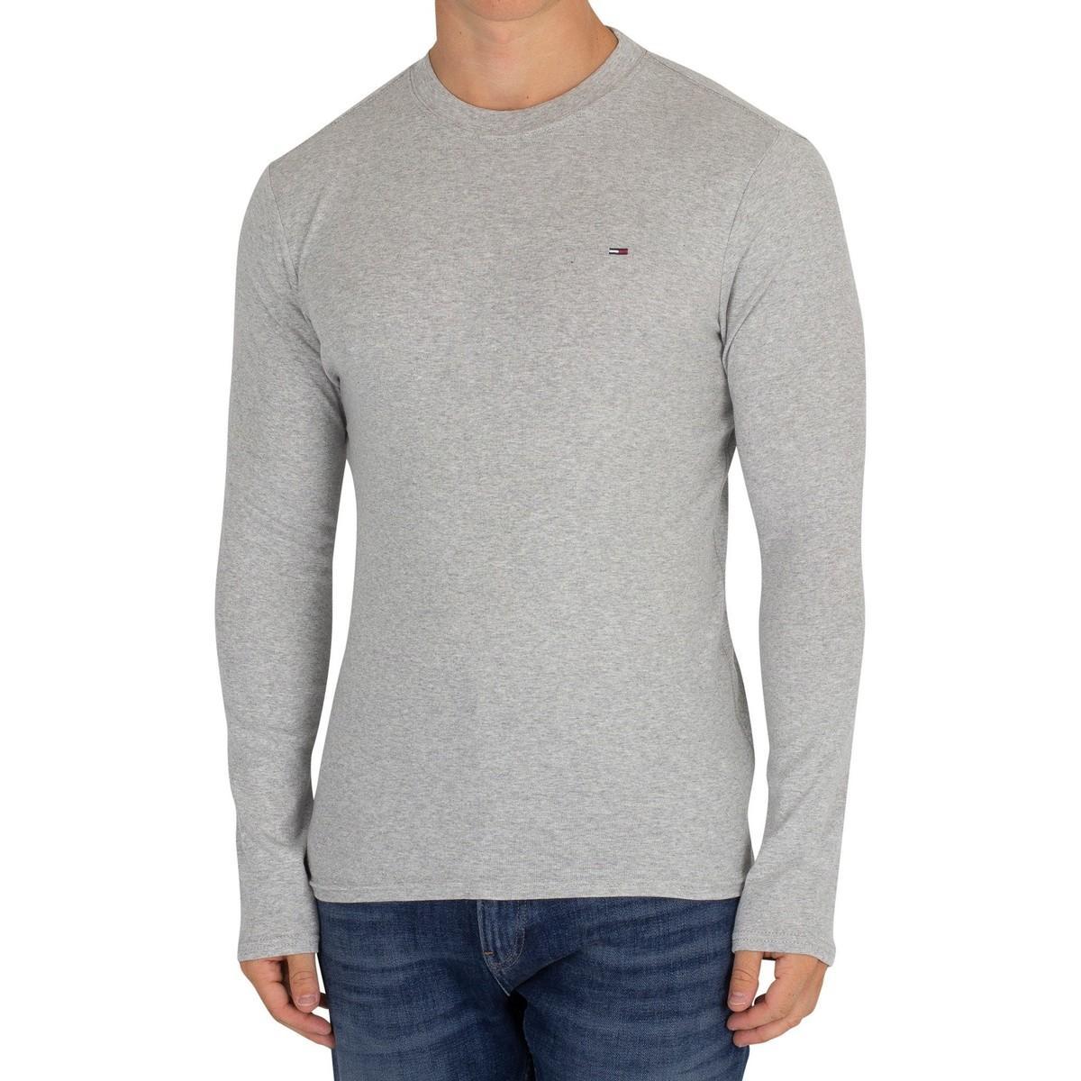 da172670 Tommy Hilfiger - Gray Men's Slim Rib Longsleeved T-shirt, Grey Men's  Sweater In. View fullscreen