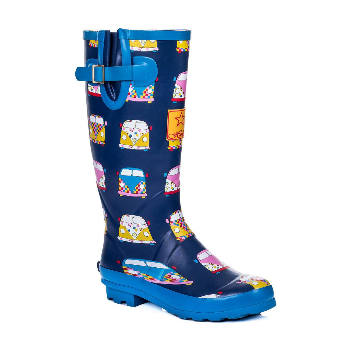 68c1d1075800 SPYLOVEBUY Igloo Adjustable Buckle Flat Festival Wellies Rain Boots ...