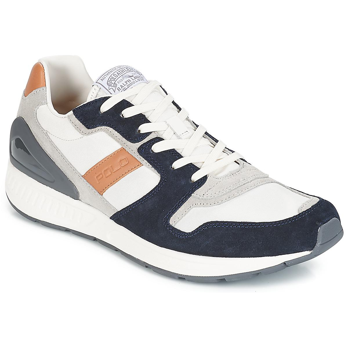 Polo Ralph Lauren Train 100 Cls Men s Shoes (trainers) In Grey in ... 82ddda3c970