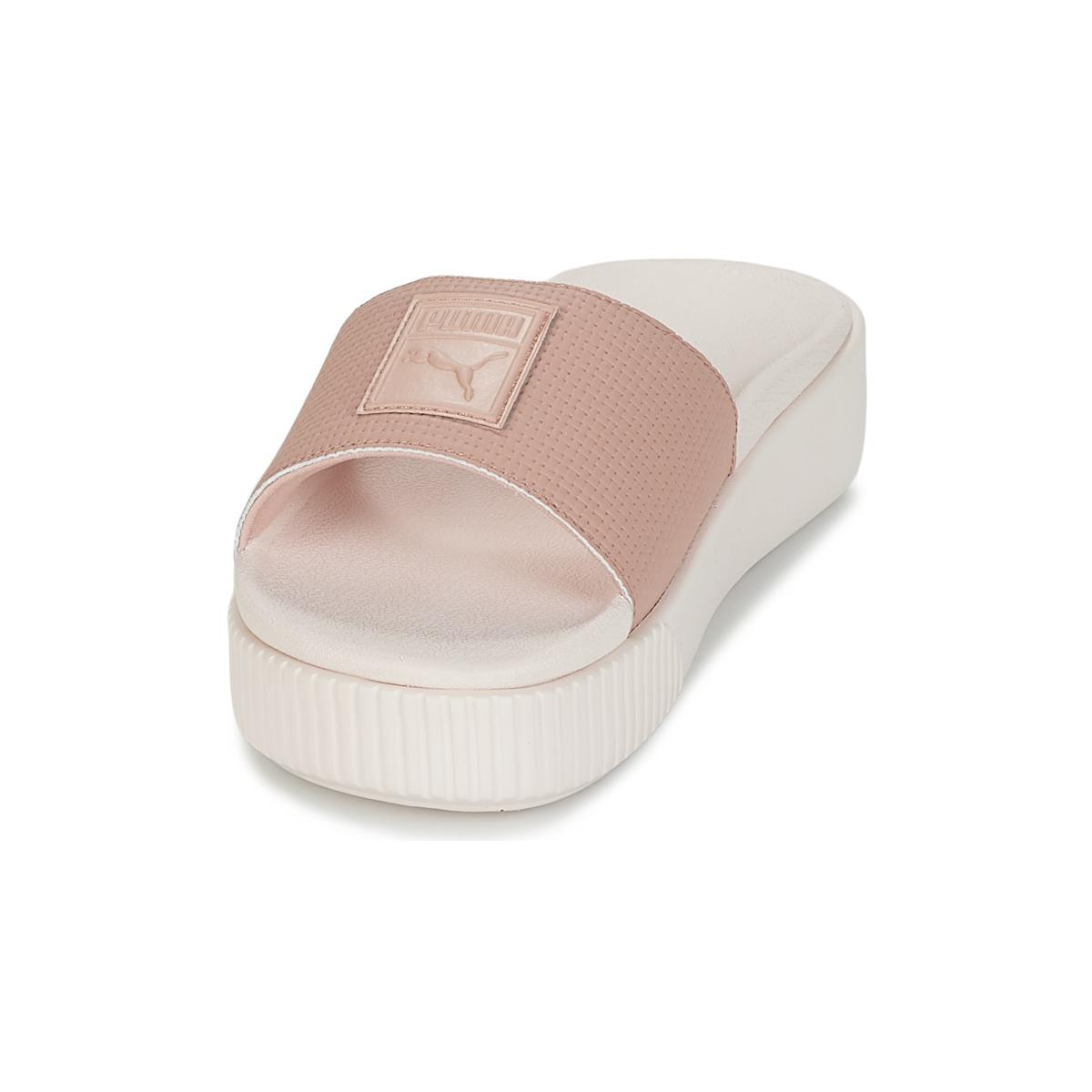 669bd7e71f06 PUMA - Platform Slide Wns Ep Women s Mules   Casual Shoes In Pink - Lyst.  View fullscreen