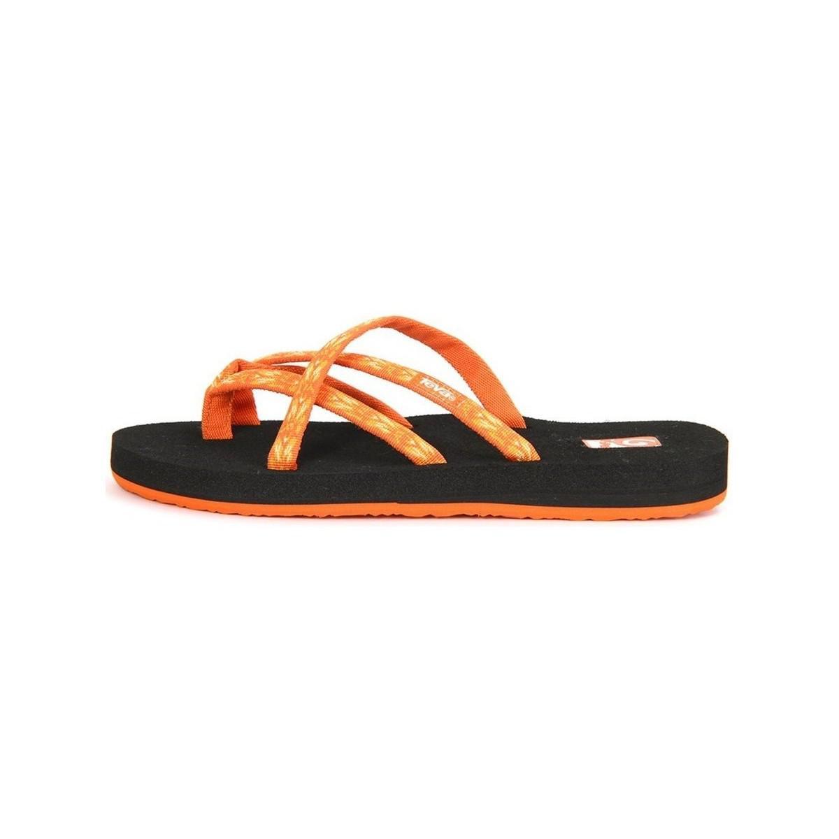 ab004eb7b08f0 Teva Olowahu Ws Hazel Orange Women s Flip Flops   Sandals (shoes) In ...