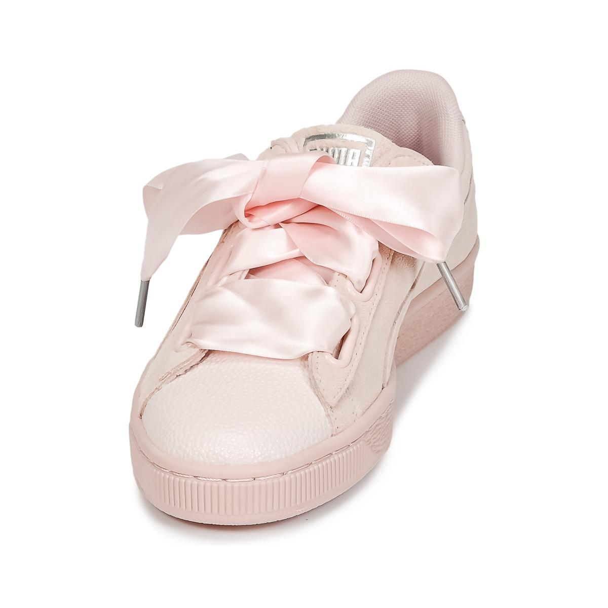 9c05987cb9fe PUMA - Pink Suede Heart Bubble W s Shoes (trainers) - Lyst. View fullscreen