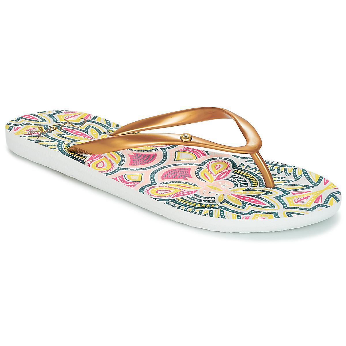 adf66f5fec25 Roxy Portofino Ii J Sndl Gcr Women s Flip Flops   Sandals (shoes) In ...
