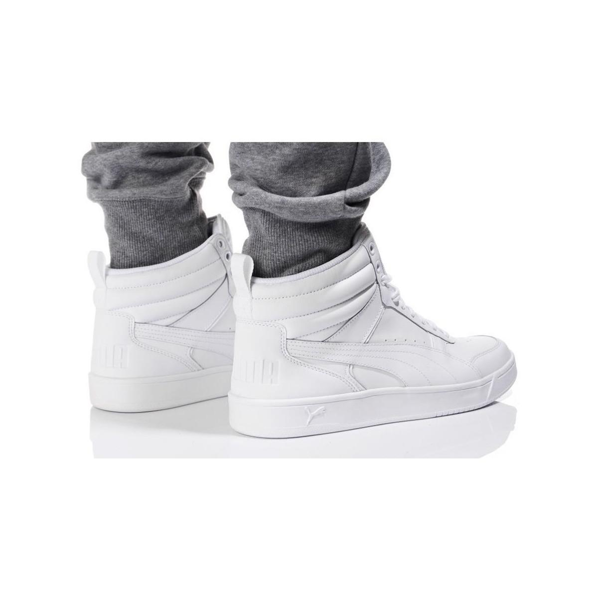 6441b67a45d2 PUMA Rebound Street V2 L Men s Shoes (high-top Trainers) In White in ...