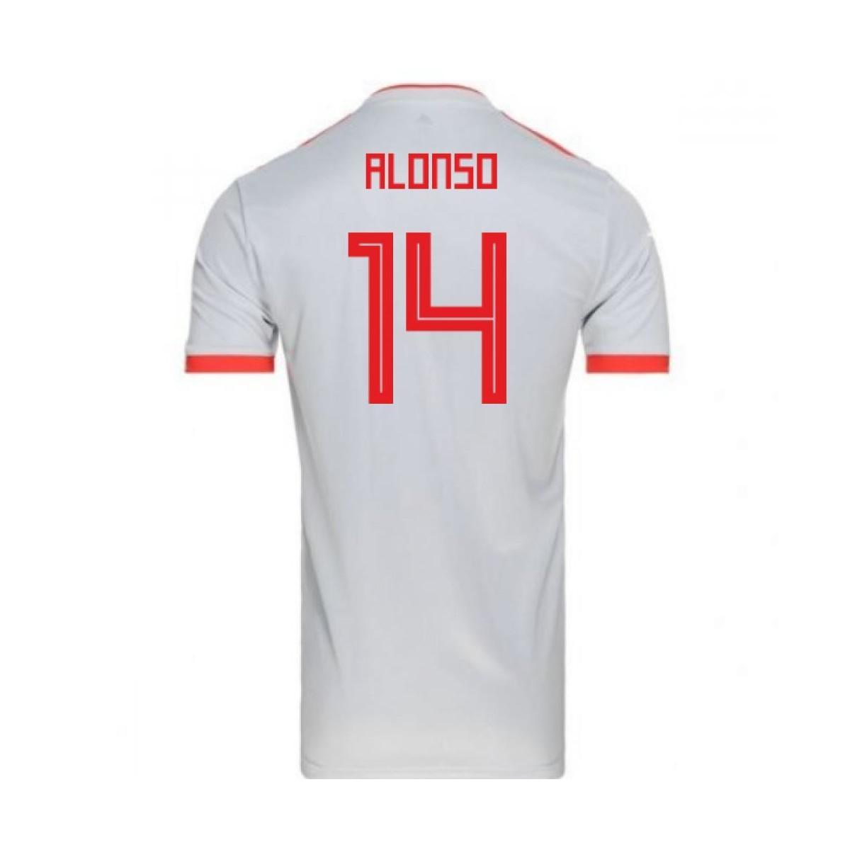 791d6d09dfa Adidas 2018-2019 Spain Away Football Shirt (alonso 14) Women s T ...
