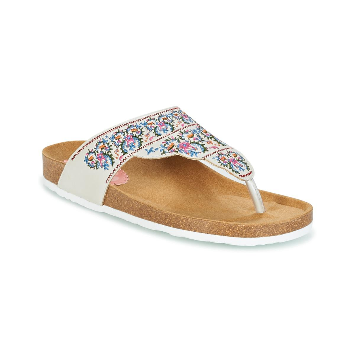 Desigual Tajmahal Flowers Womens Flip Flops Sandals Shoes In