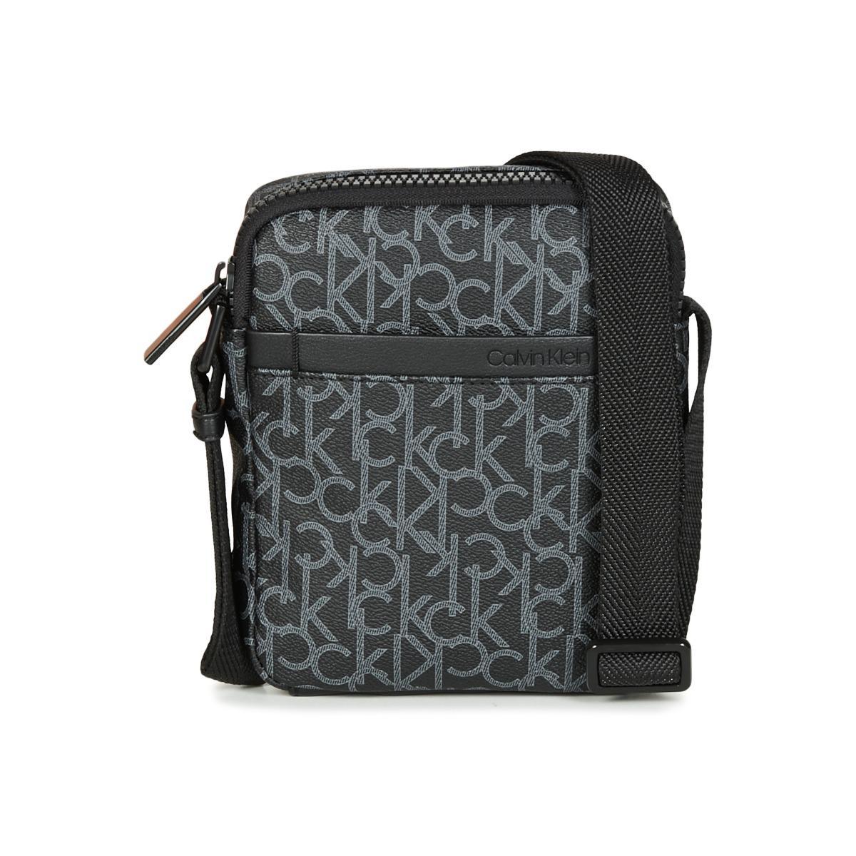 6b3dab4ef4 Calvin Klein Ck Mono Mini Reporter Pouch in Black for Men - Lyst
