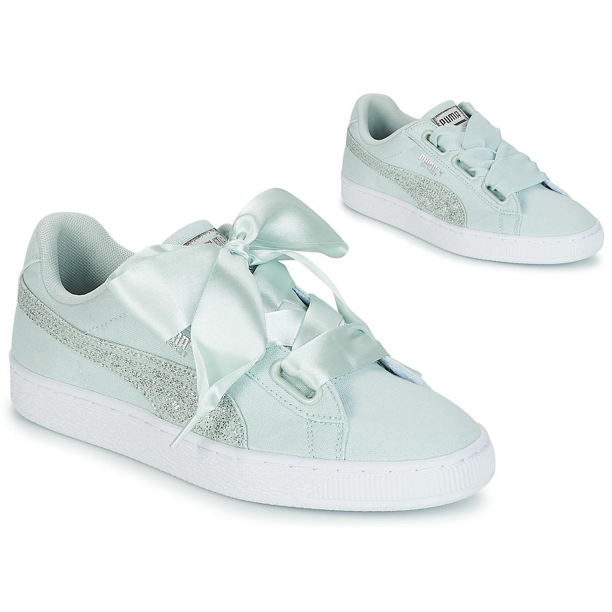 PUMA - Basket Heart Canvas W s Women s Shoes (trainers) In Green - Lyst.  View fullscreen fef92e01f