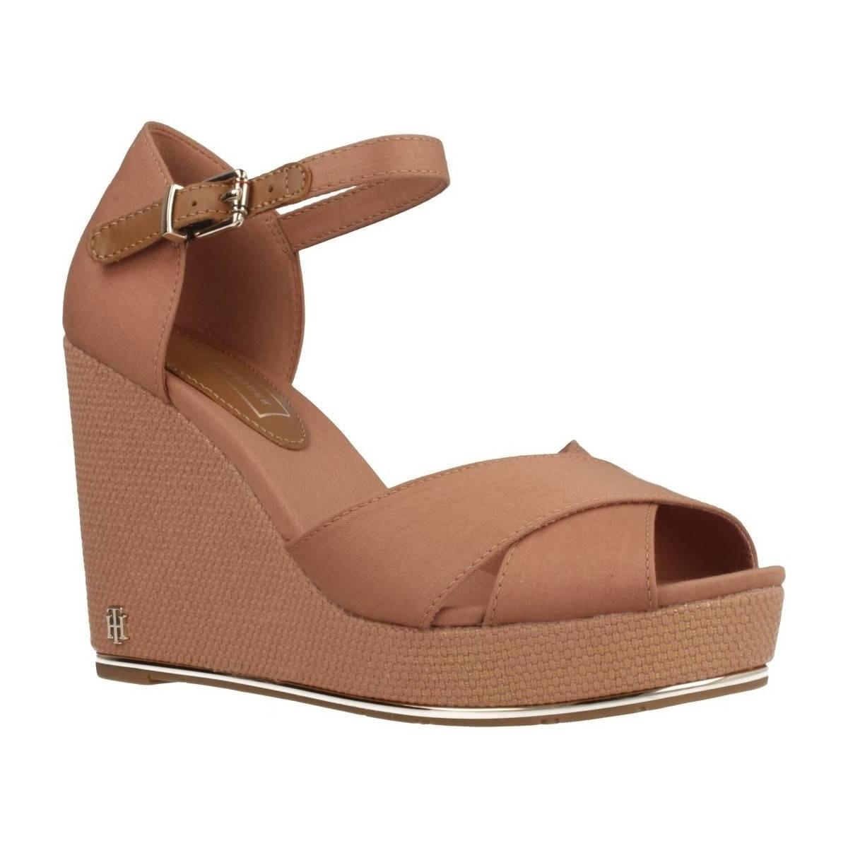 18b46cf155 Tommy Hilfiger Fw0fw04078 Women's Sandals In Brown in Brown - Lyst