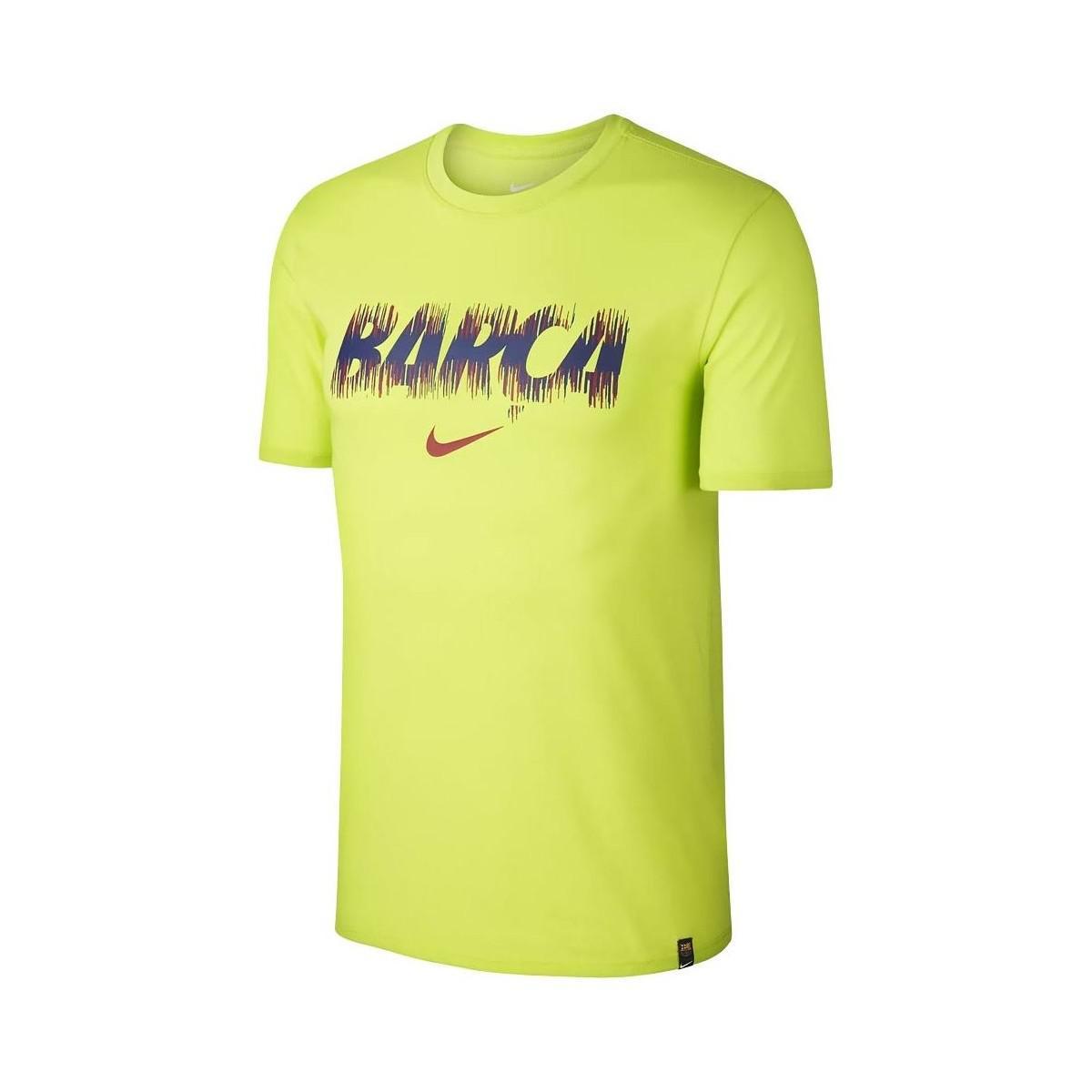 e58477657 Nike 2018-2019 Barcelona Dry Pre Season Tee (volt) Men s T Shirt In ...