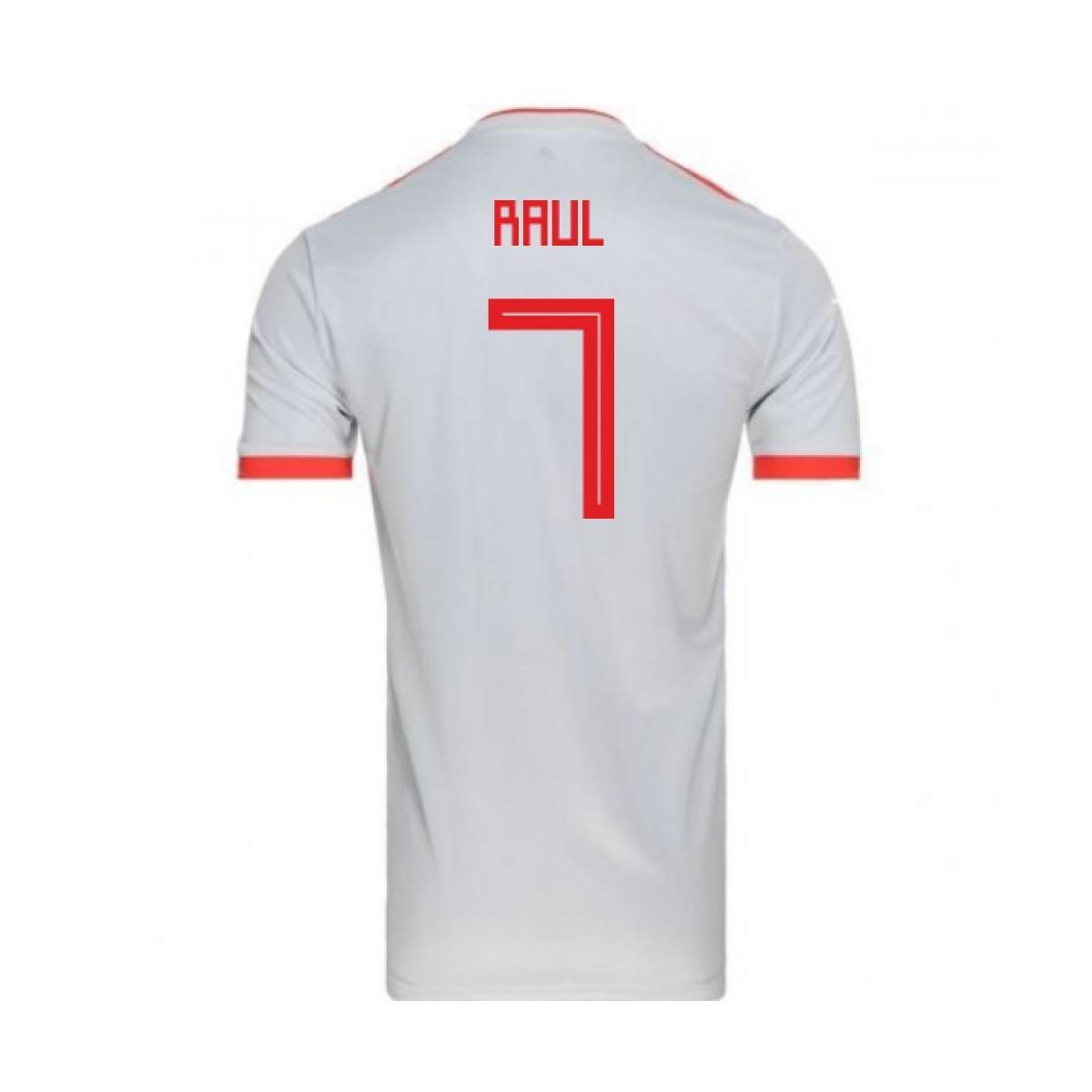 bbbc9e16afc Adidas 2018-2019 Spain Away Football Shirt (raul 7) Women s T Shirt ...