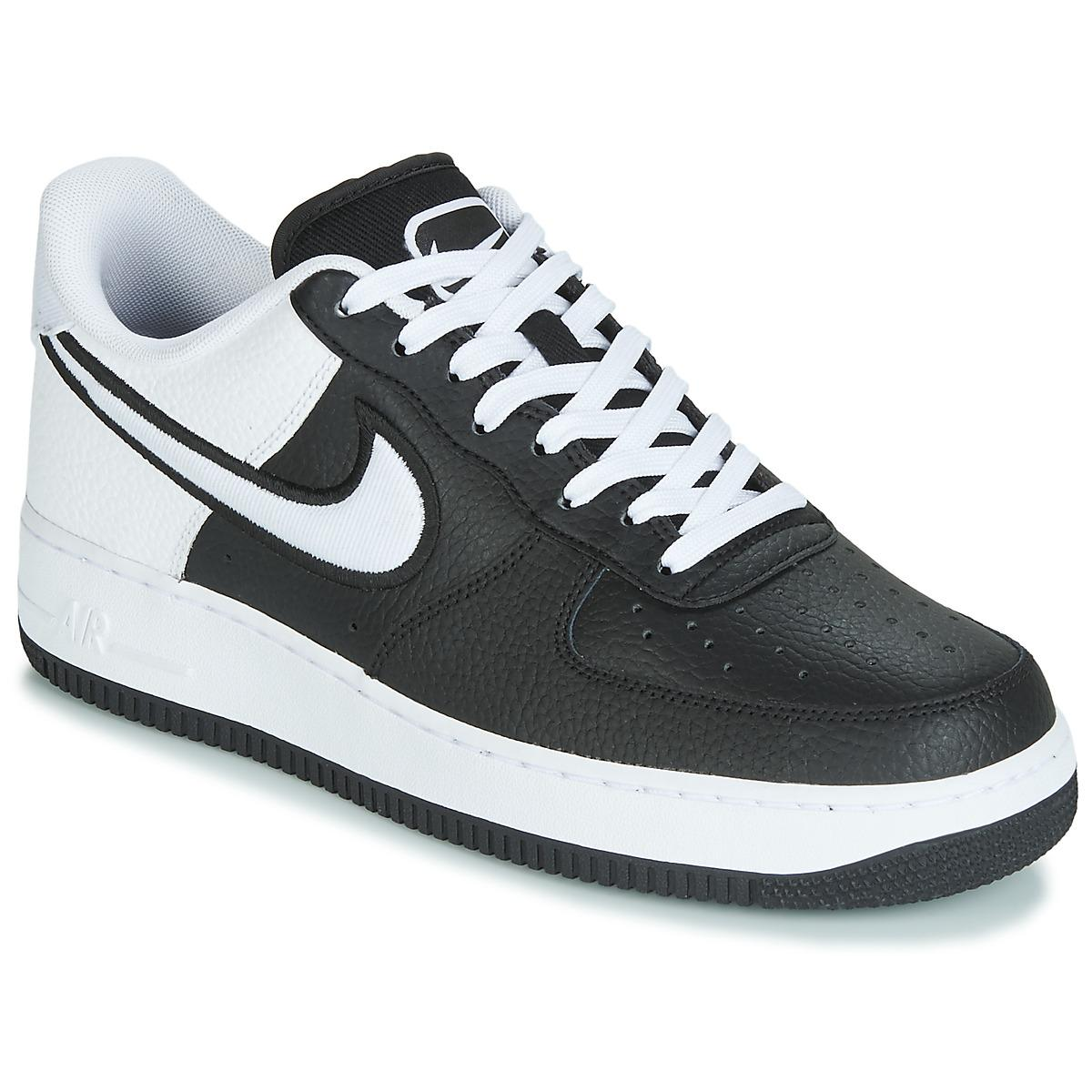 premium selection 29c6f 09855 Nike. Air Force 1  07 Lv8 1 Men s Shoes (trainers) In Black